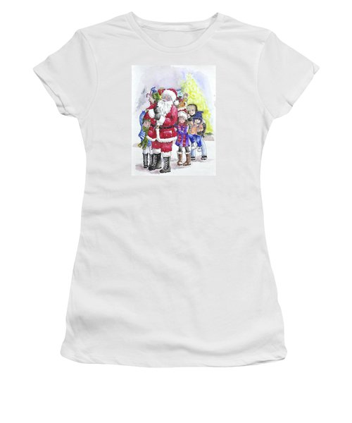 Santa And Children Women's T-Shirt (Athletic Fit)