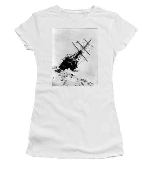 Shackletons Endurance Trapped In Pack Women's T-Shirt