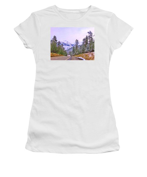 Women's T-Shirt (Junior Cut) featuring the photograph Sierra Storm by Marilyn Diaz