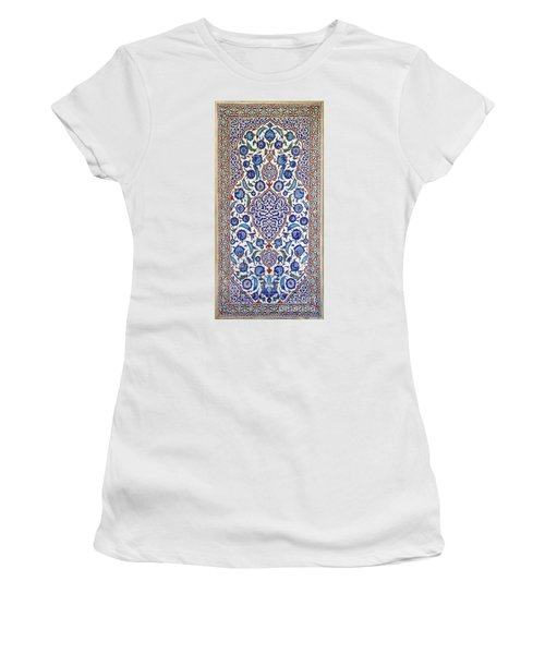 Sultan Selim II Tomb 16th Century Hand Painted Wall Tiles Women's T-Shirt (Junior Cut) by Ralph A  Ledergerber-Photography
