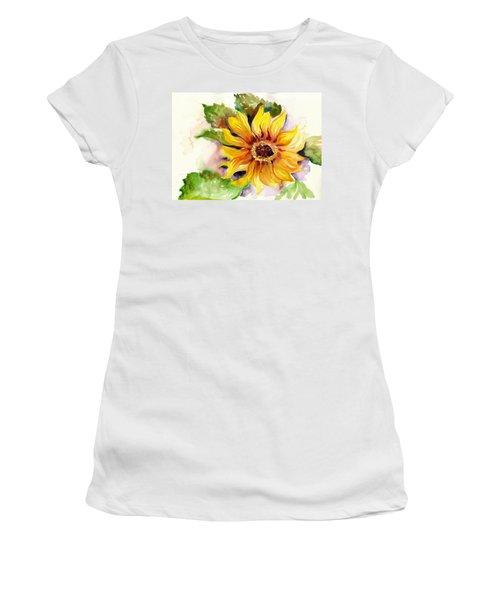 Sunflower Watercolor Women's T-Shirt