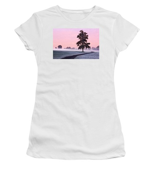Tree At Dawn / Maynooth Women's T-Shirt (Athletic Fit)