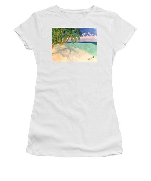 Tropical Shores Women's T-Shirt (Athletic Fit)