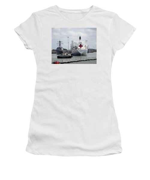Us Naval Hospital Ship Comfort Women's T-Shirt (Athletic Fit)