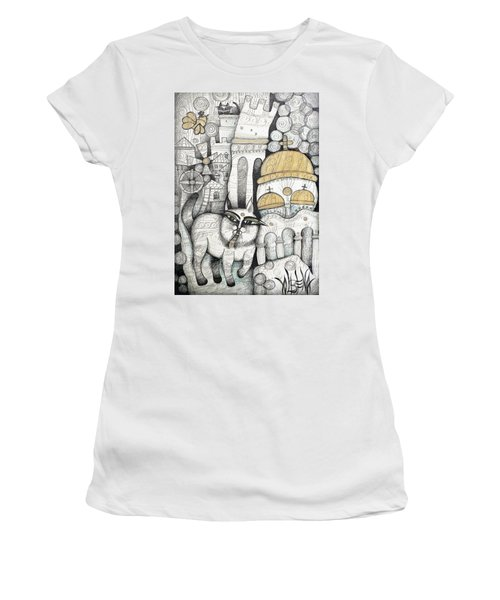 Villages Of My Childhood Women's T-Shirt (Athletic Fit)