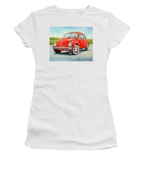 Vw Beetle Women's T-Shirt (Athletic Fit)