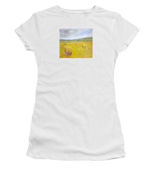 Wheat Bales At Harvest Women's T-Shirt (Athletic Fit)