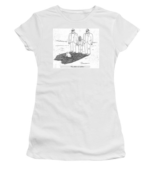 You Didn't See Nothin' Women's T-Shirt (Athletic Fit)
