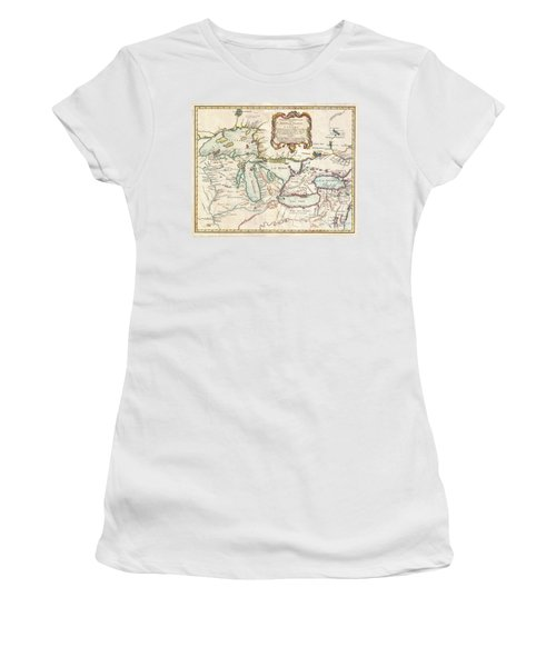 1755 Bellin Map Of The Great Lakes Women's T-Shirt