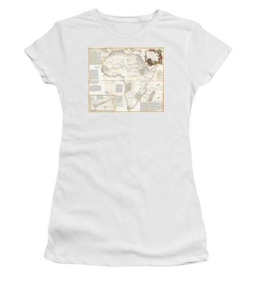 1787 Boulton  Sayer Wall Map Of Africa Women's T-Shirt (Junior Cut) by Paul Fearn