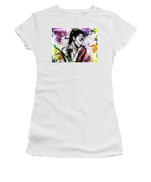 Demi Lovato Women's T-Shirt (Junior Cut) by Svelby Art