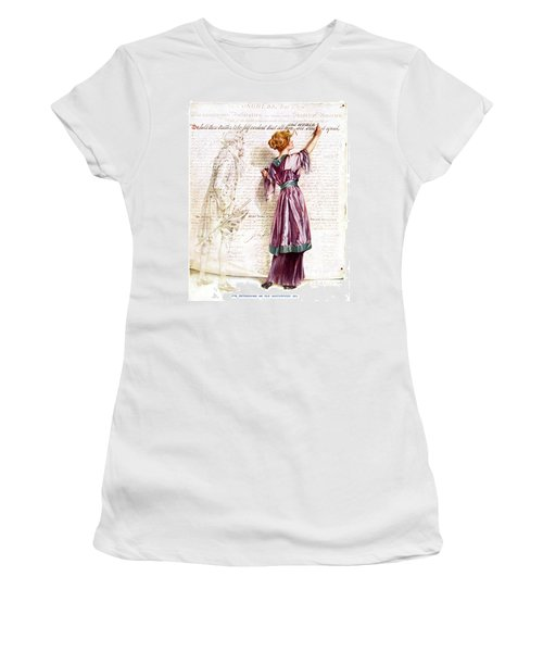 1900s 1915 Woman Suffragette Writing Women's T-Shirt