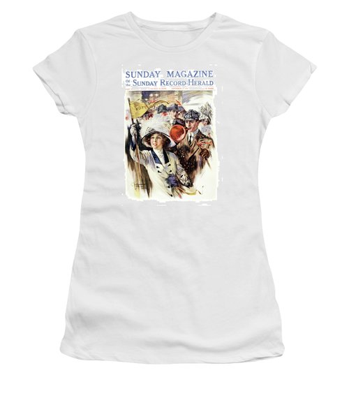 1910s 1912 Cover Sunday Magazine Women's T-Shirt