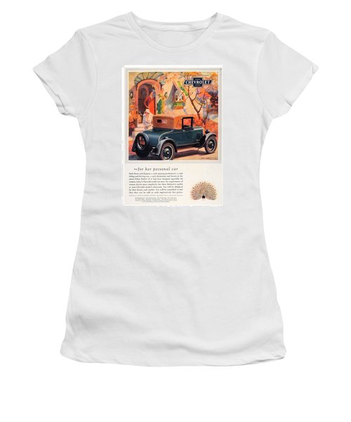 1927 - Chevrolet Advertisement - Color Women's T-Shirt (Athletic Fit)