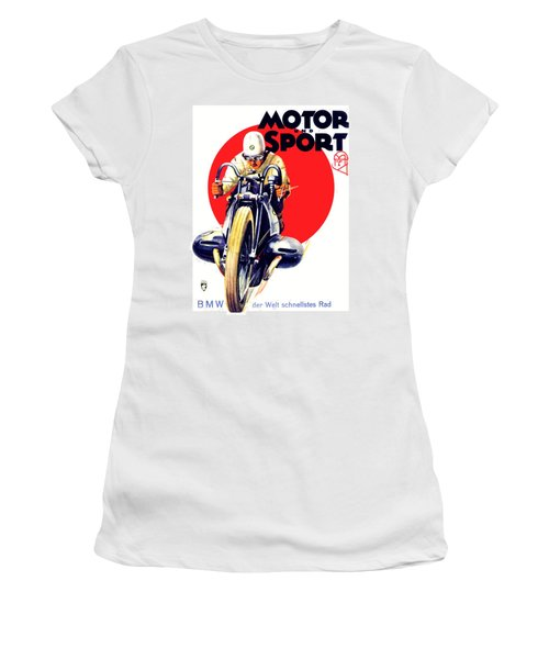 1929 - Bmw Motorcycle Poster - Color Women's T-Shirt (Athletic Fit)