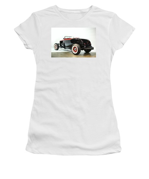 Women's T-Shirt (Junior Cut) featuring the photograph 1932 Ford Deuce Roadster by Gianfranco Weiss