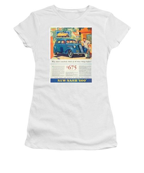 1936 - Nash Sedan Automobile Advertisement - Color Women's T-Shirt (Athletic Fit)