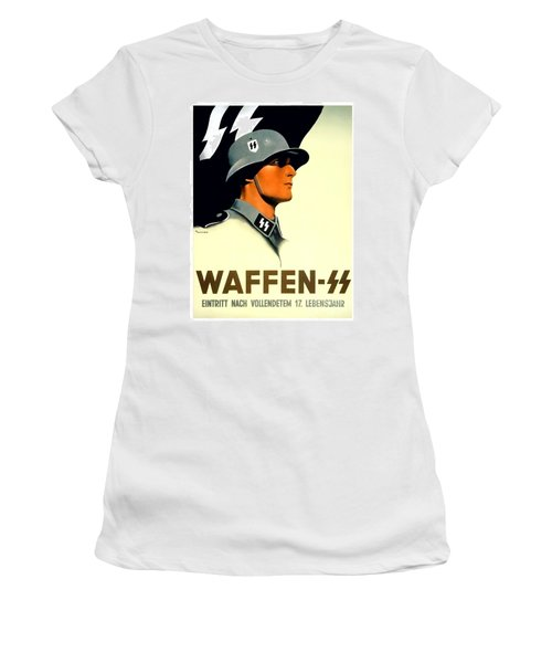 1941 - German Waffen Ss Recruitment Poster - Nazi - Color Women's T-Shirt (Athletic Fit)