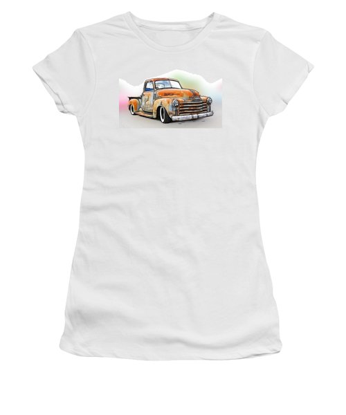 1950 Chevy Truck Women's T-Shirt (Athletic Fit)