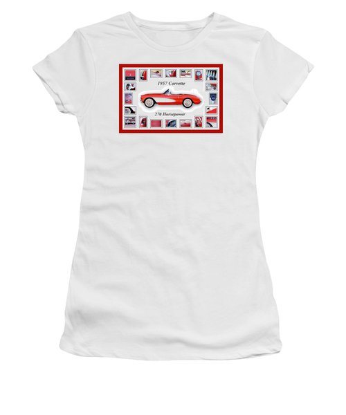 1957 Chevrolet Corvette Art Women's T-Shirt