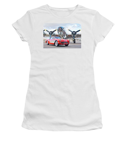 1957 Chevrolet Corvette Women's T-Shirt
