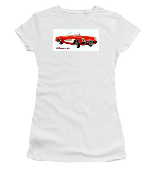 1959 Corvette Women's T-Shirt (Athletic Fit)