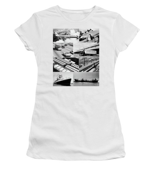 1960s Montage Of Various Forms Women's T-Shirt