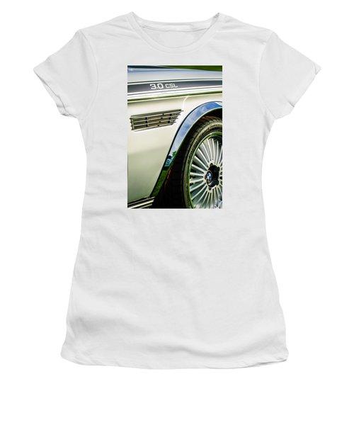 1973 Bmw 3.0 Csl Side Emblem - Wheel Emblem -1294c Women's T-Shirt