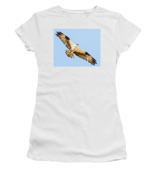 An Osprey Feeding On A Trout Women's T-Shirt (Athletic Fit)