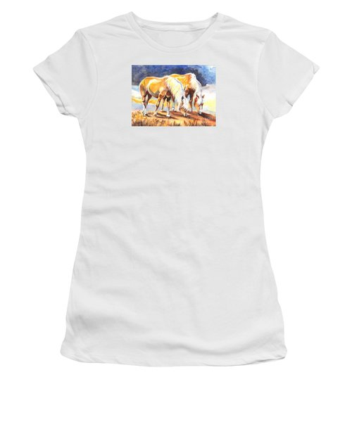 Women's T-Shirt (Junior Cut) featuring the painting Best Pals by Carol Wisniewski