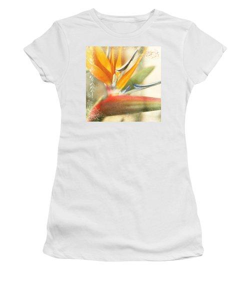 Bird Of Paradise - Strelitzea Reginae - Tropical Flowers Of Hawaii Women's T-Shirt