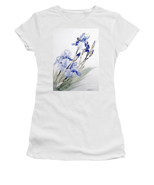 Blue Irises Women's T-Shirt (Athletic Fit)