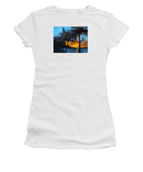 Brilliant Hawaiian Sunset 1 Women's T-Shirt (Athletic Fit)