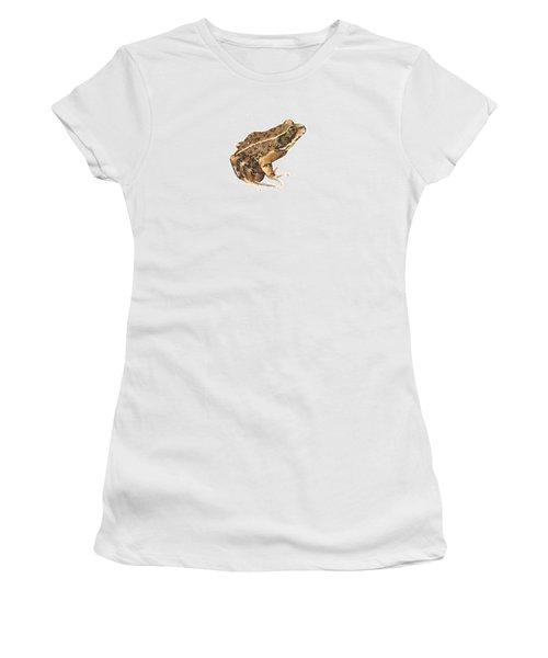 California Red-legged Frog Women's T-Shirt (Junior Cut) by Cindy Hitchcock