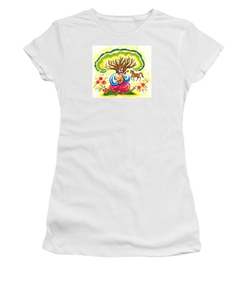 Cossack Mamay Women's T-Shirt (Junior Cut) by Oleg Zavarzin