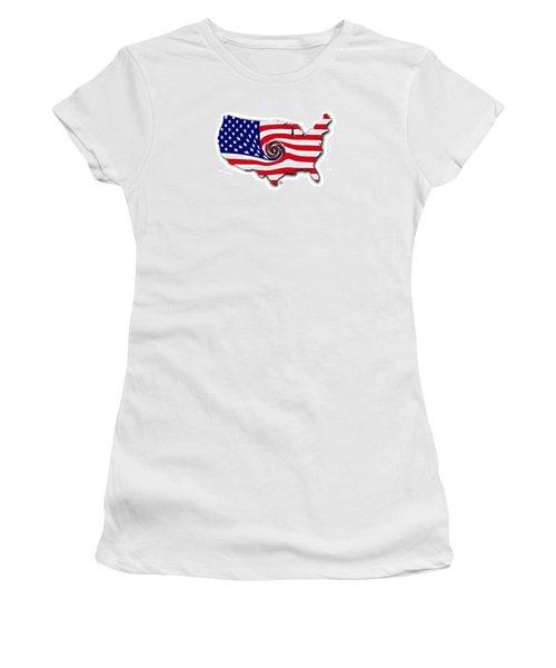 Down The Drain Women's T-Shirt (Junior Cut) by Scott Ross