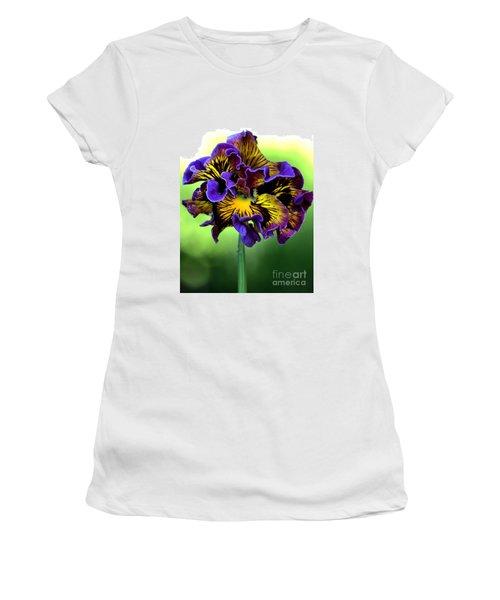 Frilly Pansy Women's T-Shirt (Junior Cut) by Joy Watson