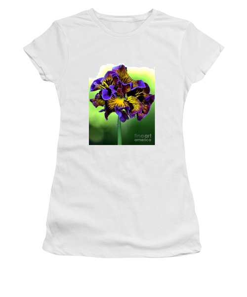 Frilly Pansy Women's T-Shirt (Athletic Fit)