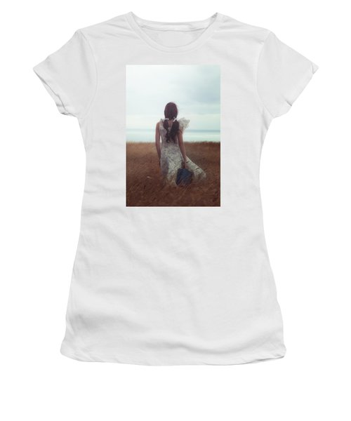 Girl With Suitcase Women's T-Shirt