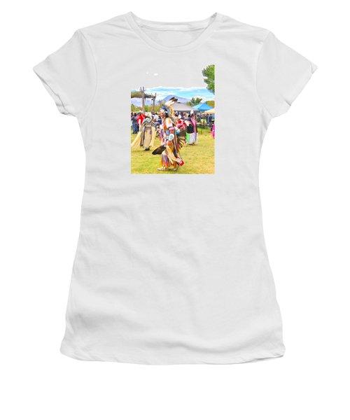 Women's T-Shirt (Junior Cut) featuring the photograph Paiute Powwow by Marilyn Diaz