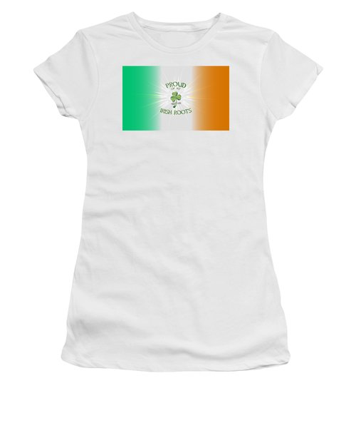 Proud Of My Irish Roots Women's T-Shirt (Athletic Fit)