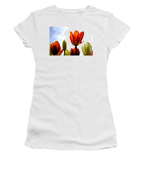 Women's T-Shirt (Junior Cut) featuring the photograph Reaching For The Sun by Marilyn Wilson