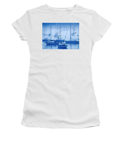 Sailboats In The Fog - Maine Women's T-Shirt (Athletic Fit)