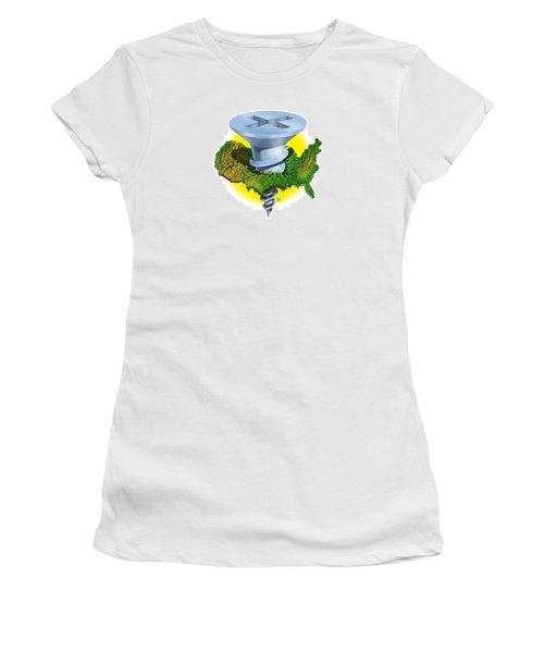 Screwed Women's T-Shirt (Junior Cut) by Scott Ross