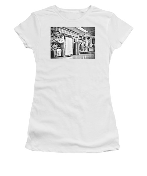 Sitting At The Counter Women's T-Shirt (Athletic Fit)