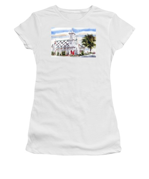 St Pauls Episcopal Church  Women's T-Shirt (Junior Cut) by Kip DeVore