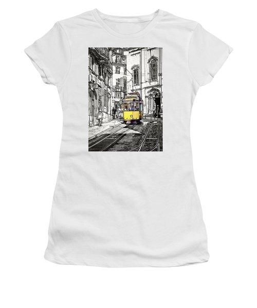 Lisbon Tram 28 Women's T-Shirt (Athletic Fit)