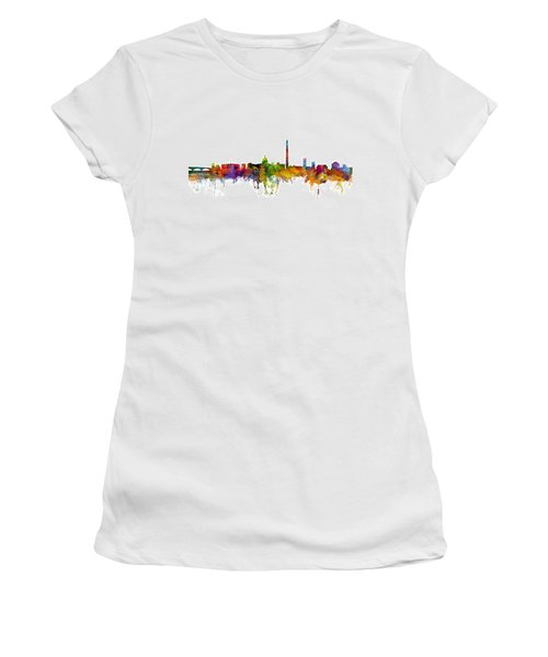 Washington Dc Skyline Women's T-Shirt (Junior Cut) by Michael Tompsett