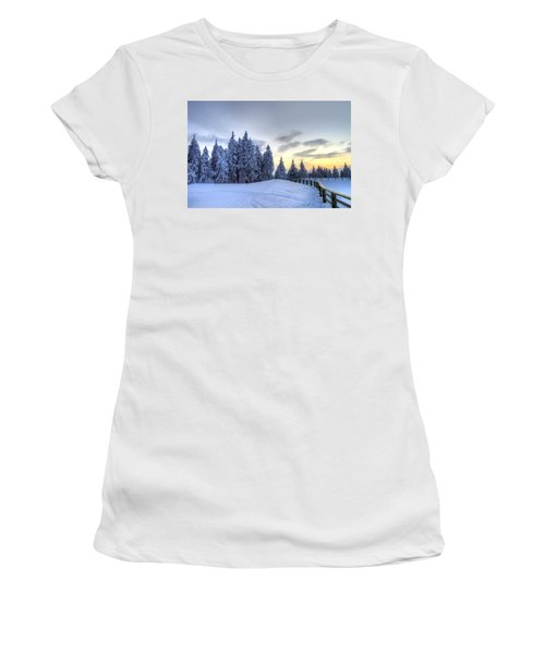Winter  Women's T-Shirt (Athletic Fit)