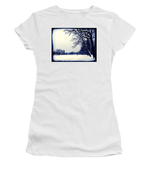 Winter Women's T-Shirt (Junior Cut) by Nina Ficur Feenan